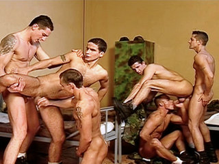 Gay Big Dick : Soldiers sucking each others hard rods before getting down on each others tight asses!
