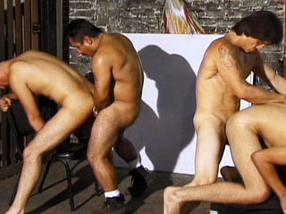 Gay Videos XXX : Eight hung Latinos fuck and making oral sex in gangbang!