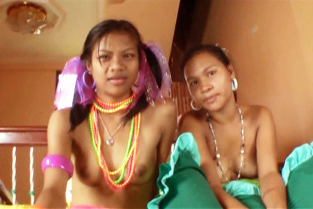 Rose and Alice get plowed by a huge Indian cock in these hot video clips