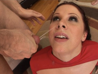 Mature and Young : Gianna Michaels wears lots of hot milk after fucking the studs!