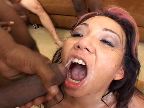 Keeani Lei goes wild in this Bukkake video
