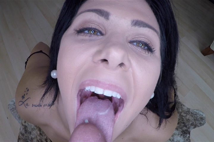 Mia Pearl POV blowjob leads to sex